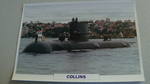 1993 Collins Australian submarine warship framed picture